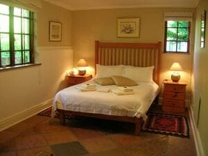 Strelitizia Cottage bedroom with double bed