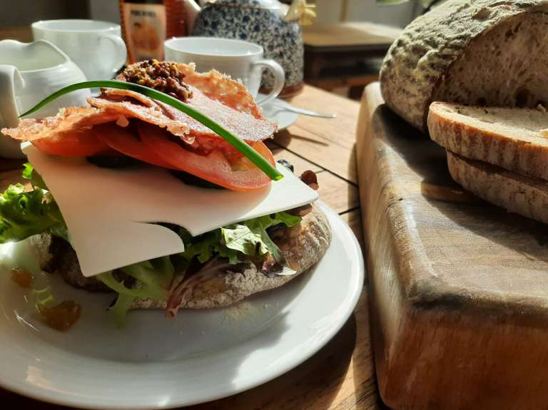 Sandwich made with Champlain bread